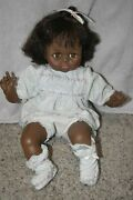 Vintage 1977 Madame Alexander Crying Doll 18 African American Soft Body