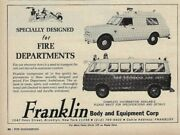 Franklin Body And Equipment Co. Ambulance For New Brunswick Nj Fd - Nov And03968