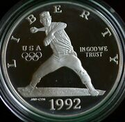 1992 S Olympic Proof Silver Dollar Baseball Coin Only No Box No Coa