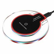 Qi Wireless Charger Fast Charging Pad Iphone X 8 Xs Max Xr Samsung S8 S9 White