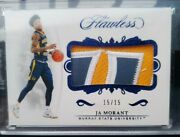 2019 Flawless Ja Morant Collegiate Rookie Jersey Patches Sapphire 15/15=1/1 Psa