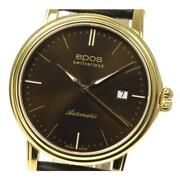 Epos Emotion 3390 Automatic Mens Ss Gp Leather Belt Brown Dial [e0414]