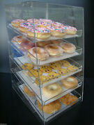 305displays Acrylic Case W/5 Trays Pastry Bakery Donut Bagels Cookie