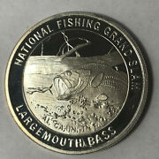 Largemouth Bass North American Fishing Club 1 Ounce .999 Silver Round Sr89