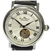 Yonger And Bresson See-through Back Ybh8569-02 Automatic Men Ss Leather [e0415]