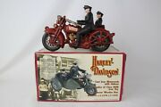 Cast Iron Hubley Replica Harley Davidson Motorcycle W/ Sidecar, Excellent, Boxed