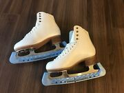 New Jackson Js2270 Andnbspwoman Ice Skates Figure Size Us 4.5 With Blade Guards