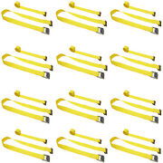 12 Pack 2 X 12and039 E-track Cam Buckle Strap Truck Trailer Enclosed Cargo Tie Down
