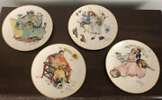 Norman Rockwell The Four Seasons Series For 1955 Set Of Four Plates
