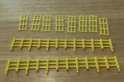 Lionel 1887 Yellow Fence Comp. Set General And James Gang Horse 2 Long And 8 Short