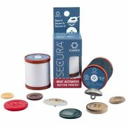 No Lost Buttons Secura Button Thread Sew Steam Secure 6 Spools Asst Colors