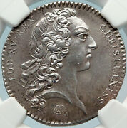 1723 France King Louis Xv Brittany Rennes Antique French Silver Medal Ngc I83703