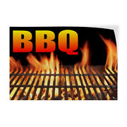 Decal Stickers Bbq With An Image Vinyl Store Sign Label Restaurant And Food