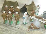 Barclay And Manoil Soldiers- Great Grouping Soldiers Tents Cannon Medical