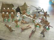 Barclay And Manoil Soldiers-  Great Grouping Soldiers, Tents, Cannon, Medical