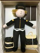 New Louis Vuitton Novelty Bellhop Stuffed Doll From Paris With Box Very Rare O