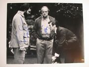 Francis Ford Coppola And Al Pacino Signed 11x14 Photo Dc/coa The Godfather Rare