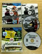 Lot Tiger Woods Masters Pga Tour 12 And Masters 13 Playstation 3 Ps3 Work Perfect