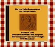 New Cd, Usb With Over 2000 Sears Craftsman Compucarve And Carvewright Patterns