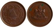 Judaica Medal Masonic 1882 On The 100th Anniversary Of The Orient In Brussels Rr