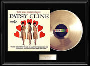Patsy Cline Thatand039s How A Heartache Begins Gold Metalized Record Lp Album Rare