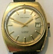 Vintage Waltham Menand039s Wristwatch Hand Winding Running Incabloc 17 Jewels