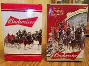 2015 2016 Budweiser Bud Holiday Steins Annual Clydesdale Christmas Beer Busch Ab