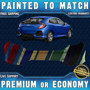 New Painted To Match - Rear Bumper Replacement For 2017-2019 Honda Civic Hatch
