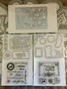 Sizzix Mini Holiday Cardmaking Envelope Liner Stamps And Dies Set 637377 New