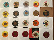 Lot Of 45 Rpm Records 50s 60s Pop Rock Vg And Better Rolling Stones Beach Boys