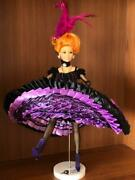 1895 Jeweled Moulin Rouge Lady Paradise Crochet Collector Doll Ooak Barbie