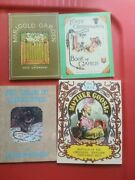 Lot Of 4 Antique Reproduction Childrens Books Mother Goose Kate Greenway Games