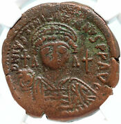 Justinian I The Great Authentic Ancient Constantinople Byzantine Coin Ngc I83579
