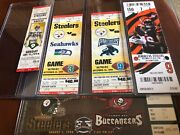 Collectors Lot / Collection Of Nfl Pittsburgh Steelers Tickets Ticket Stubs Fsbo