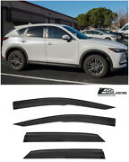 Eos Visors For 17-up Mazda Cx-5 Jdm Mugen Style Side Window Vents Rain Guards