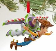 Disney Toy Story 4 Buzz And Woody Flying Sketchbook Ornament New Authentic Disney