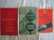Vintage Lionel Trains Instruction Books For Assembling And Operating. 1947 - 51