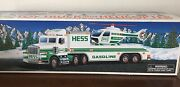 New 1995 Hess Toy Truck And Helicopter With Operating Rotors And Lights