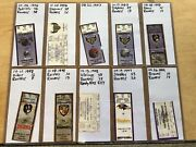 Collectors Lot / Collection Of Nfl Baltimore Ravens Tickets Ticket Stubs Fsbo
