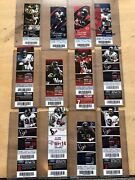 Collectors Lot / Collection Of Nfl Houston Texans Tickets Ticket Stubs Fsbo