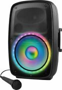 Ion Audio - Total Pa Glow 3- High Power Bluetooth Pa System With Lights - Black