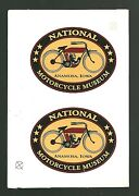 National Motorcycle Museum Anamosa Iowa Unused Decals Odd Lot Of 2