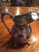 Vintage Epca Bristol Silverplate Water Pitcher With Ice Guard By Poole Silver Co