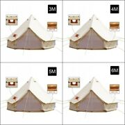 Canvas Bell Tent 5m Waterproof Outdoor Camping Glamping Hunting Tents 4-season