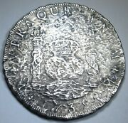 1735 Shipwreck Spanish Mexico 8 Reales 1700and039s Antique Silver Dollar Pirate Coin