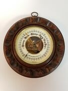 Vintage Barometer By John W. Jarvis Buffalo N.y. Made In Germany Wood And Brass