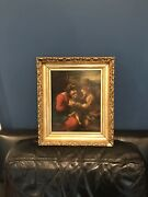 Oil On Canvas After Correggio. Mystic Marriage Of St. Catherine 17th Century
