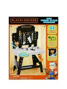 New Black+decker Jr. Mega Power N' Play Workbench With Realistic Sounds 52 Tools