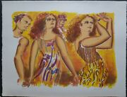 Lester Johnson Am. 1919-2010 Vintage S/n Lithograph 20andtimes26 1980and039s 128/200