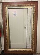 Very Large 73x48 Antique Frame 19thc French Mahogany Gilt Gesso Laurel Leaves